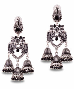 Exquisite Peacock Danglers Earrings