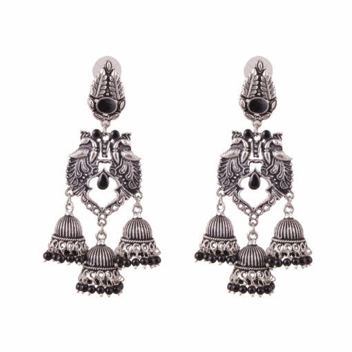 Exquisite peacock danglers Earrings 01