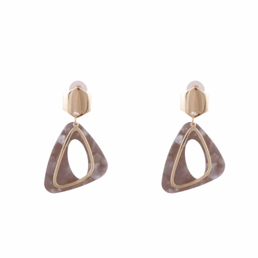 Faux Granite and Golden Earrings 01