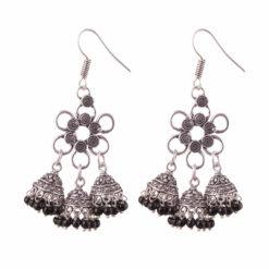 Flower Power Jhumka Love Earrings 01