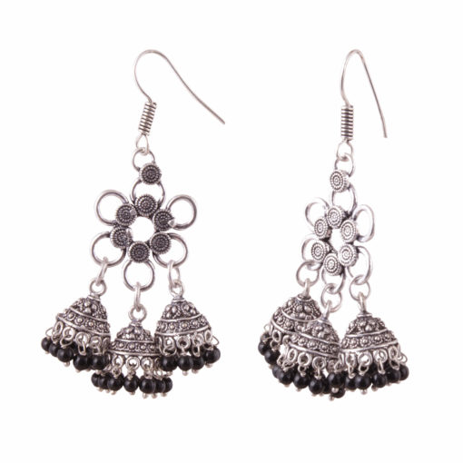 Flower Power Jhumka Love Earrings 02