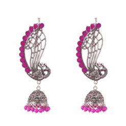 Fuchsia Fusion Jhumka Earrings 01
