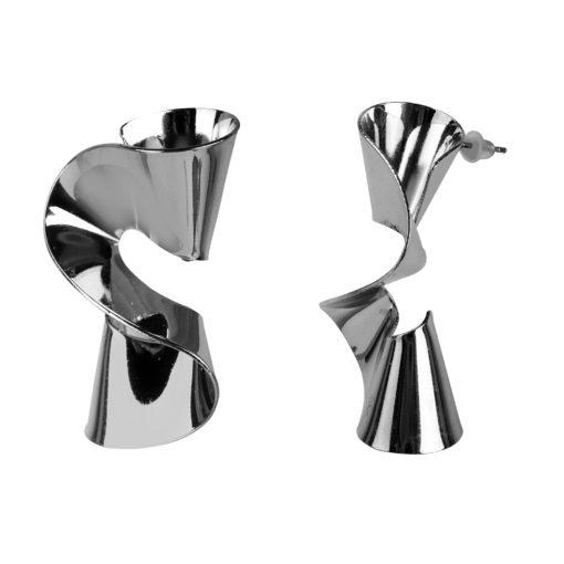 Futuristic Spirals Earrings 02