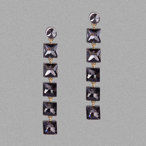 Girl on Fire Dangling Earrings For Women – Black
