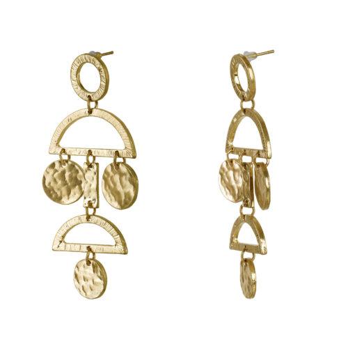 Half Moon Danglings Earrings 02