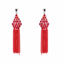 Lady in Red Earrings