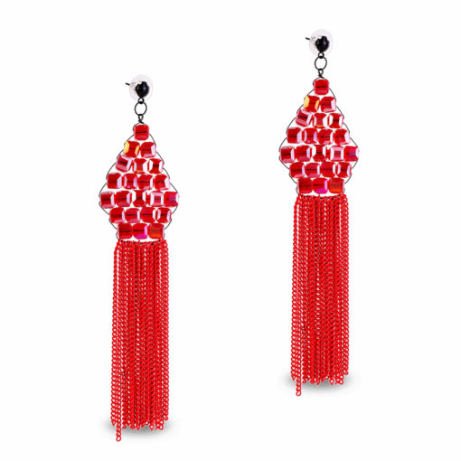 Lady in Red Earrings