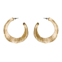 Misfit Golden Half Hoops Earrings 01