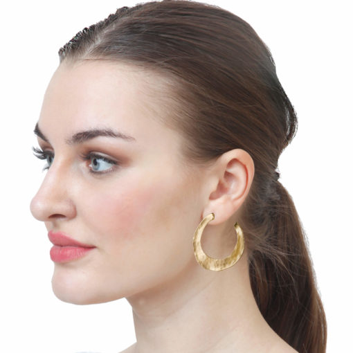 Misfit Golden Half Hoops Earrings 03