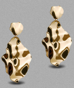 Molten Golden Leaf Earrings