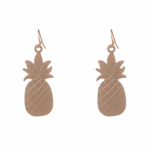 Quirky Golden Pineapples Earrings 01