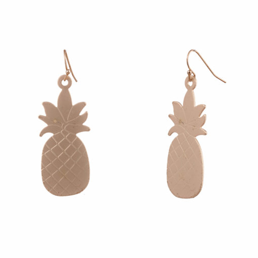 Quirky Golden Pineapples Earrings 03