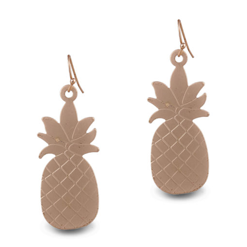 Quirky Golden Pineapples Earrings