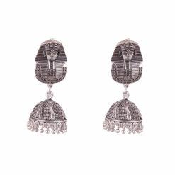 Sphynx in German Silver Earrings 01