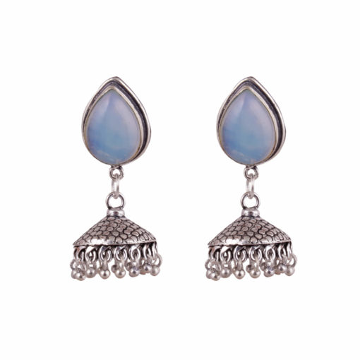 Teardrop effect jhumka Earrings 01