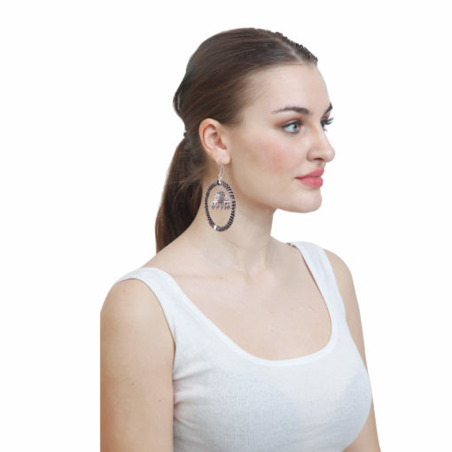 Unique Designer Hoops with Jhumka Earrings 03
