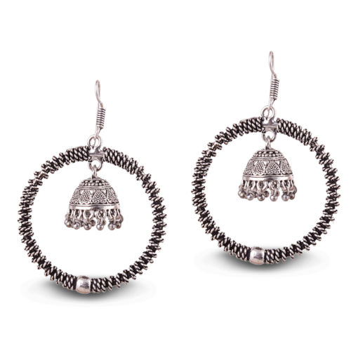 Unique Designer Hoops with Jhumka Earrings