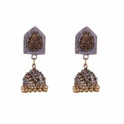 Yogi motif jhumkas Earrings 01