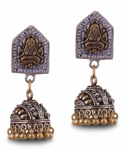 Yogi motif jhumkas Earrings