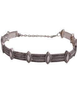 Antique Elegant Silver Choker Necklace 01
