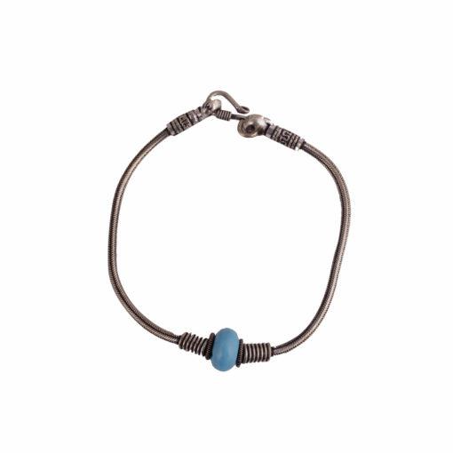 Antique silver anklet with bead deatil Anklet 01
