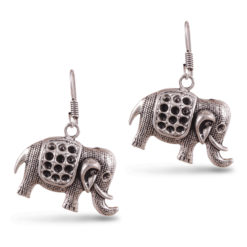 Cute Mini Silver Elephants Earrings