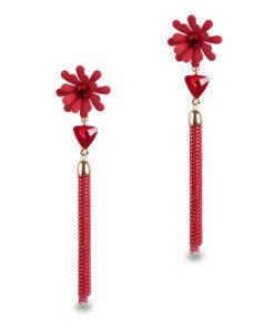 Dazzling Daisy Earrings For Women – Red