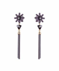 Dazzling Daisy Grey Earrings For Women 01