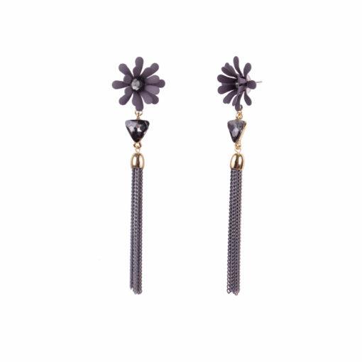Dazzling Daisy Grey Earrings For Women 02