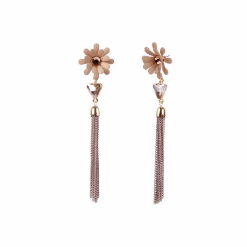 Dazzling Daisy Yellow Earrings For Women 02