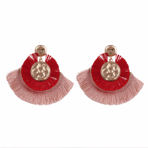 Dual toned mini tassel studs Earrings 01