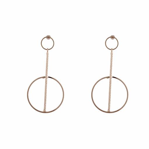 Elegant Gold Orbs & Rods Earrings 01
