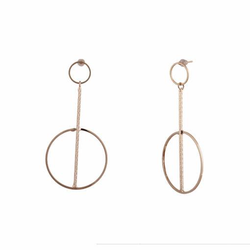 Elegant Gold Orbs & Rods Earrings 02