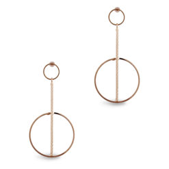Elegant Gold Orbs & Rods Earrings