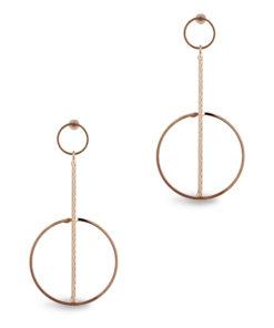 Elegant Gold Orbs & Rods Earrings
