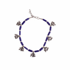 Elephant Motif Single Anklet 01