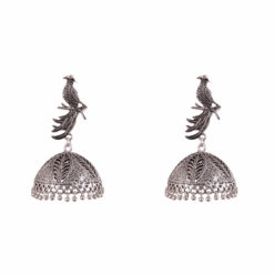 Exquisite Sitting Bird Jhumka Earrings 01