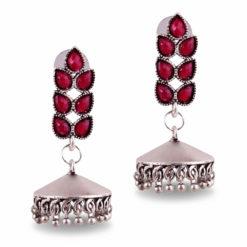 Faux Afghani Style Jhumka Earrings