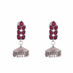 Faux Afghani style jhumkas Earrings 01