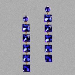 Girl on Fire Dangling Earrings – Blue