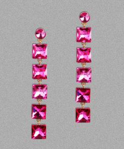 Girl on Fire Dangling Earrings – Pink