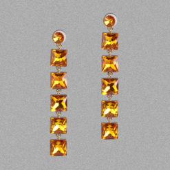 Girl on Fire Dangling Earrings – Yellow