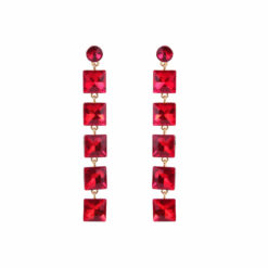 Girl on Fire Dangling RED Earrings 01