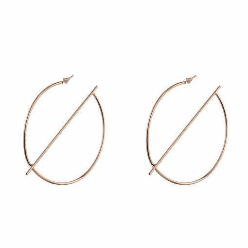 Gold Half Globe Earrings Earrings 01