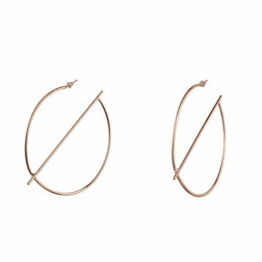 Gold Half Globe Earrings Earrings 02