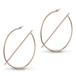 Gold Half Globe Earrings Earrings