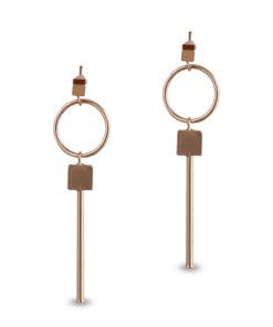 Gold hoops _ squares Earrings