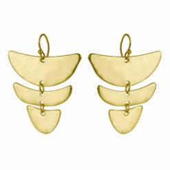 Layered Dull Moons Earrings 01