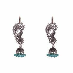 Mini Brooch Designer Jhumkas Earrings 01