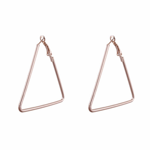 Rose Gold Triangles Earrings 01